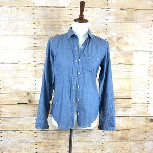 Gap The Fitted Boyfriend Long Sleeve Button Up XS